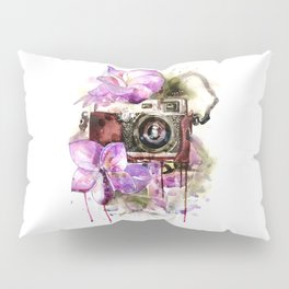 Camera in flowers Pillow Sham