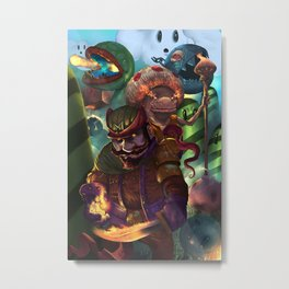 Super mario fireflower mage order. Metal Print