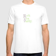 The real meaning of wtf Mens Fitted Tee White MEDIUM
