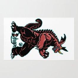Baragon Kaiju Print FC Rug