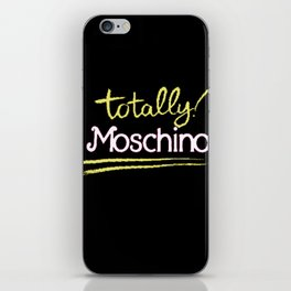 Totally Moschino Black iPhone Skin