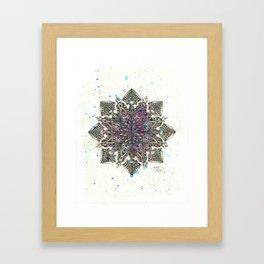 Zen Watercolor Mandala Full Framed Art Print