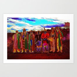 Pow Wow in Texas Art Print
