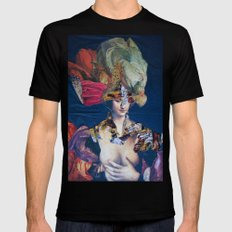 LA DAMA DI WASHINGTON Black MEDIUM Mens Fitted Tee
