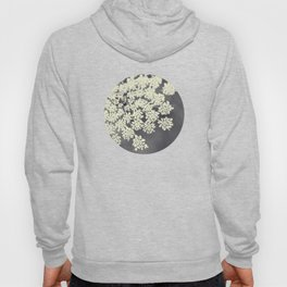 Black and White Queen Annes Lace Hoody
