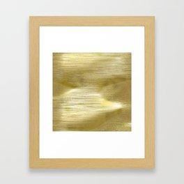 Gold metal texture Framed Art Print