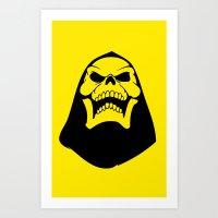 skeletor Art Prints featuring Skeletor. by Glassy