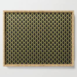 Golden Chain Link Pattern Serving Tray