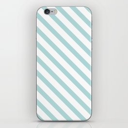 Light Turquoise Blue Stripes iPhone Skin