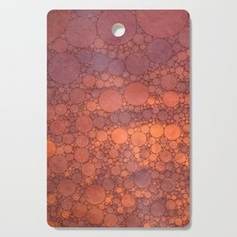 Percolated Sunset in Warm Tones Cutting Board