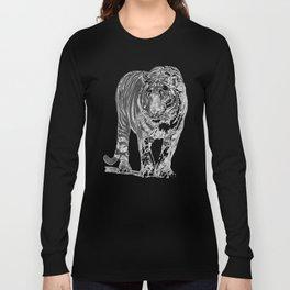 Bengal Tiger Drawing Illustration Long Sleeve T-shirt