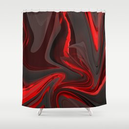 Red Flow Shower Curtain