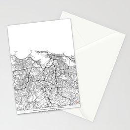 San Juan Map White Stationery Cards