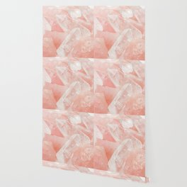 Light Pink Rose Quartz Crystals Wallpaper