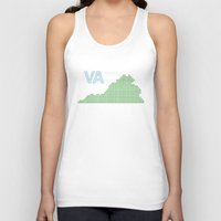 virginia Tank Tops featuring Virginia by Hum Chee