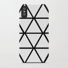 WHITE & BLACK TRIANGLES  iPhone X Slim Case