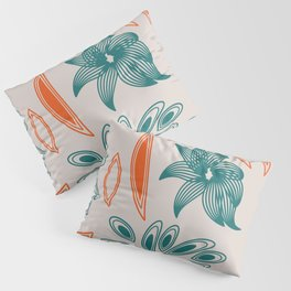 pattern with flowers and leaves Pillow Sham