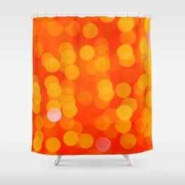 Orange Disco Fever Shower Curtain