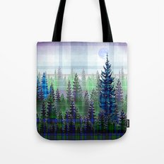 Plaid Forest Tote Bag