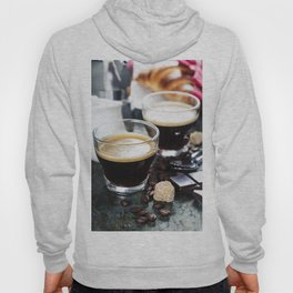 Breakfast with coffee and croissants Hoody