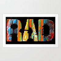 Rad Conscious (Black Background) Art Print
