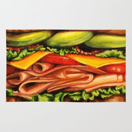 Sandwich- Turkey Bacon Avocado Rug