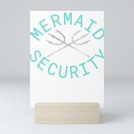 Mermaid Security Merman Birthday Gift Swimming Mini Art Print