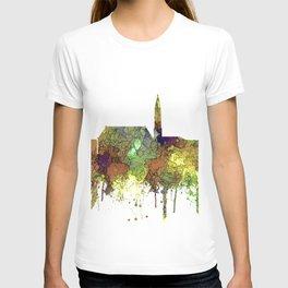 Cheyenne Wyoming Skyline-Safari Buf T-shirt