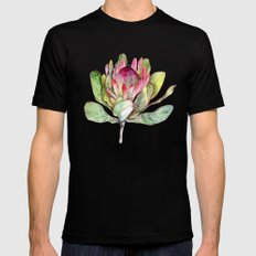 Protea Flower Mens Fitted Tee 2X-LARGE Black
