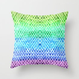 Gradient Scales Throw Pillow