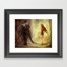 Hades and Persephone (old version) Framed Art Print