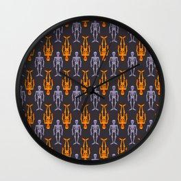 Skeleton pattern II Wall Clock