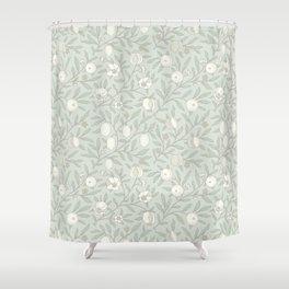 William Morris Pastel Fruit Vine Pattern Shower Curtain