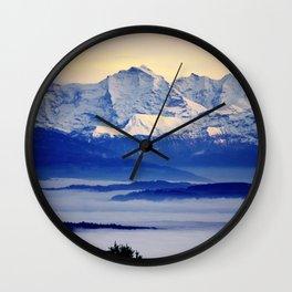 Alps from Jura Wall Clock