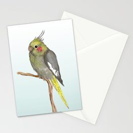 Cute female cockatiel Stationery Cards