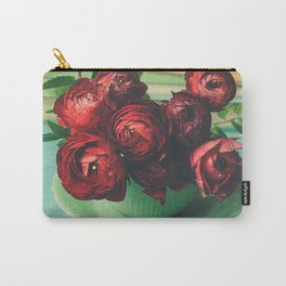 Books and Flowers Carry-All Pouch