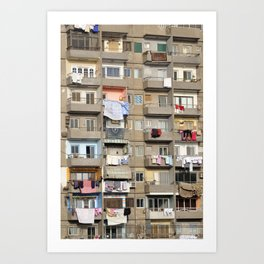 Balconies of Apartment Block, Cairo Art Print