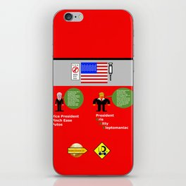 President KKK looks at Mexico Wall iPhone Skin
