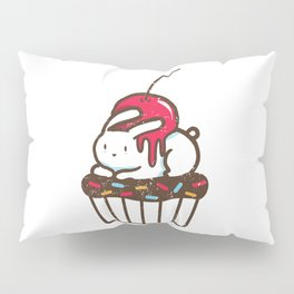 Chubby Bunny on a cupcake Pillow Sham