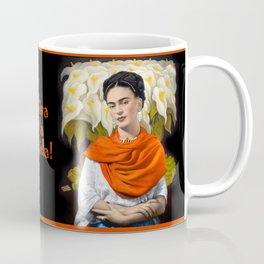 FERIDA KAHLO REBOZO NARANJA Coffee Mug
