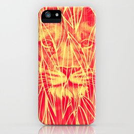 Vintage Bamboo Lion Print iPhone Case