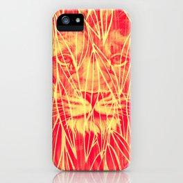 Vintage Bamboo Lion Print iPhone Case