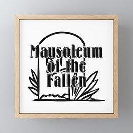 Mausoleum of the Fallen Framed Mini Art Print