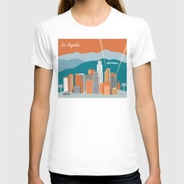 Los Angeles, California - Skyline Illustration by Loose Petals T-shirt