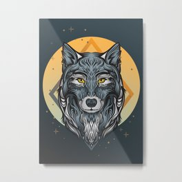 Moon guardian Metal Print