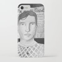 newspaper iPhone & iPod Cases featuring Newspaper Boy by Lizzie Shu