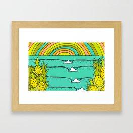 pineapple fields and endless summer vibes Framed Art Print