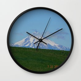 road trip, mountain, mnt hood, mt hood, oregon, meadow Wall Clock