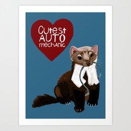 Cutest auto mechanic Art Print