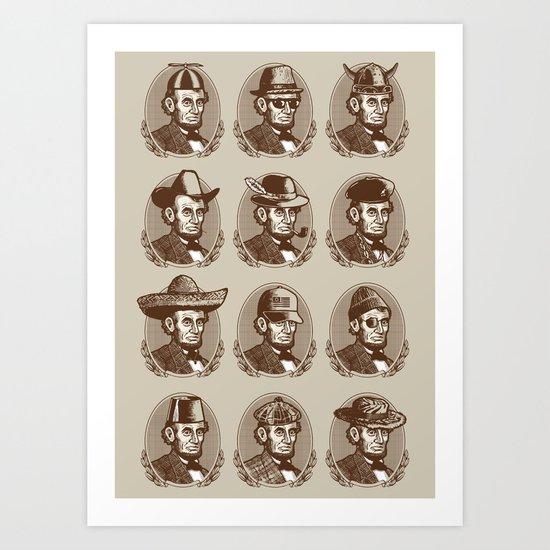 Abe Tries on Hats Art Print